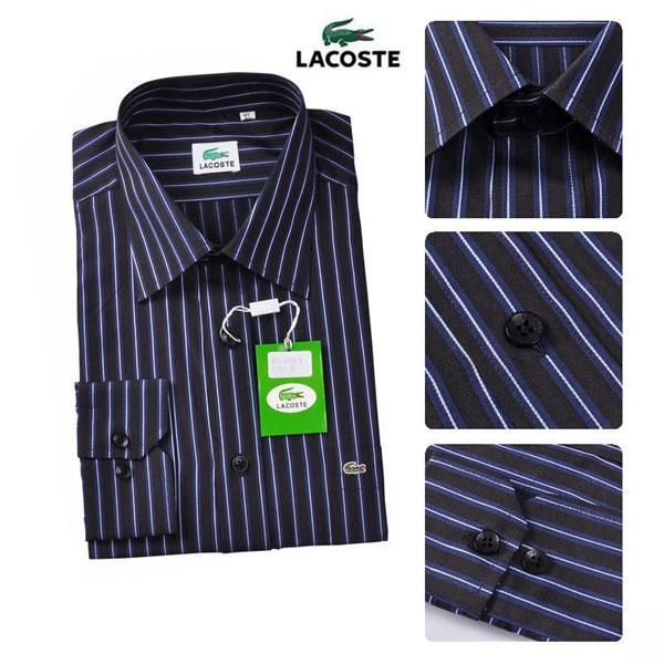 Achat Chemise Homme Lacoste Rayures Manches Longue
